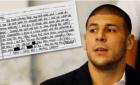 aaron hernandez Publican la carta de suicidio de Aaron Hernandez a su jeva