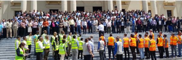 palacio nacional Juidero en el Palacio Nacional tras simulacro
