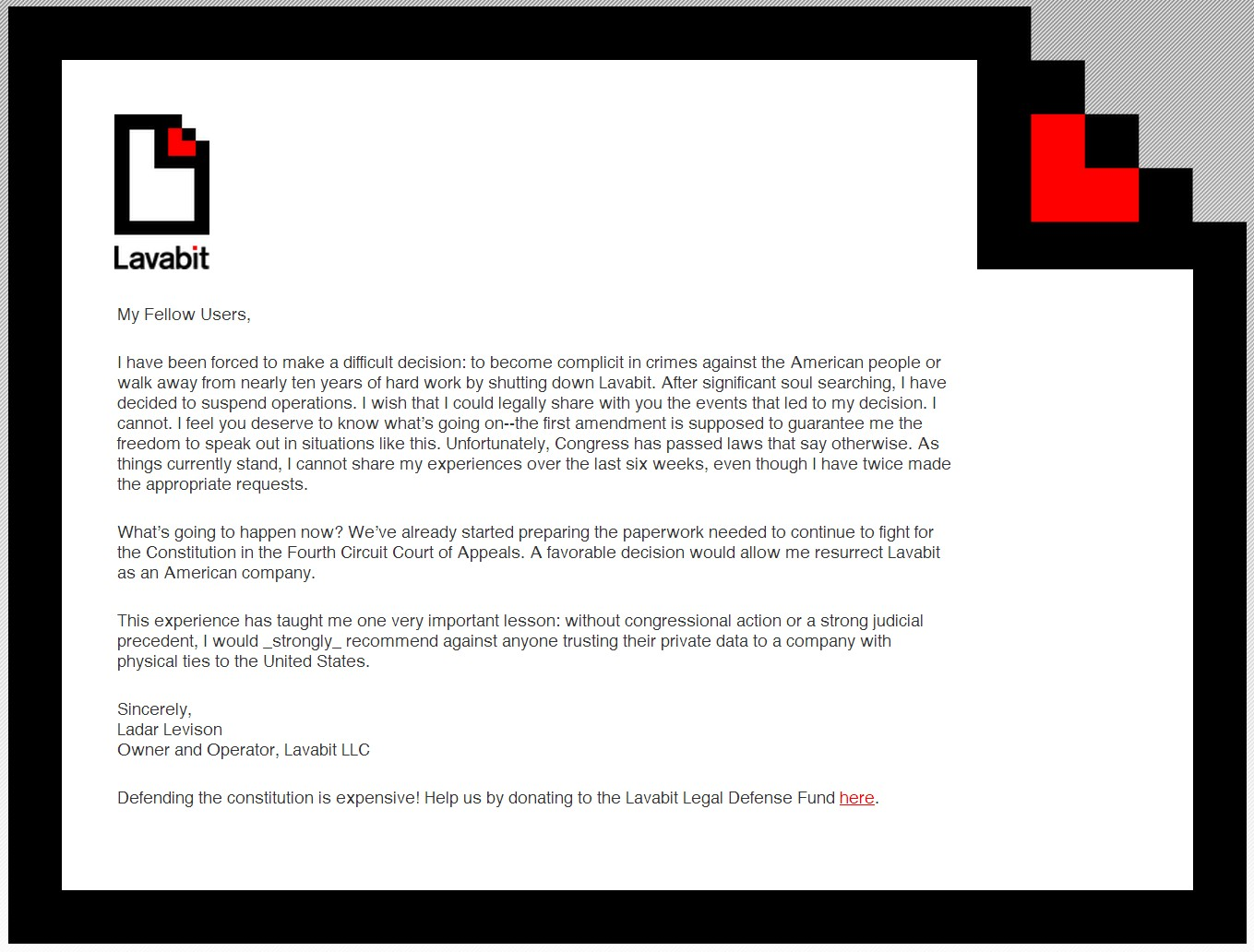 lavabit Obligan a cerrar servidor de correo de Edward Snowden