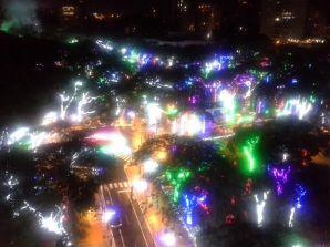 """El parque """"Brillante Navidad"""".Foto por Candy Pandiella"""