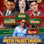 12 DE DICIEMBRE, 2015 EN EL UNITED PALAVE Jose Alberto en Canario, La India. Jerry Rivera y Alex Matos.