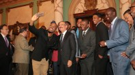 Entrega de la Bandera Dominicana al los Escogidos