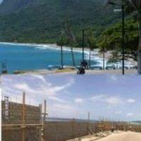 Se quillaron en Barahona y troncharon la construcción del muro ese