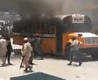 Dajabón 1 300x244 Video   Incendian guagua de Migración en Dajabón