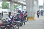 Haitianos en masa en casi todas las intersecciones