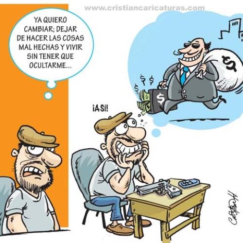 Caricatura Caricatura: De delincuente común a Corrupto...