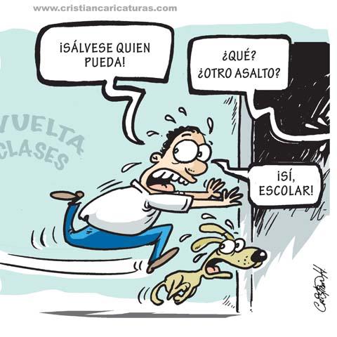 """caricatura Caricatura: """"Gastos escolares..."""""""