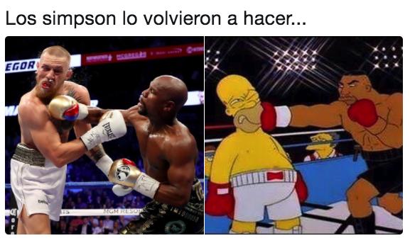 simp Memes de la pelea entre Mayweather Jr. y McGregor
