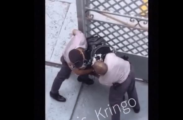 Así fue el corre-corre del tipo quitó arma a policía y luego mataron (video)