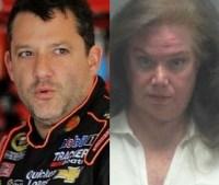 collage 1 200x169 Arrestan doña por acosar a expiloto de NASCAR