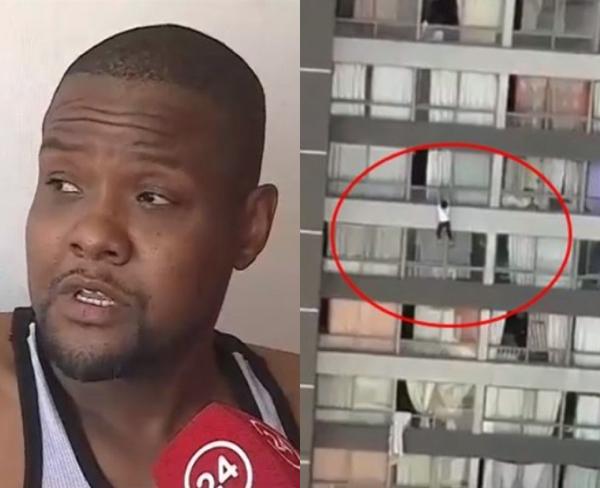 Chile: Haitiano atrapa mujer que cayó de noveno piso