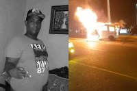 Resultado de imagen para Hombre muere calcinado al incendiarse su vehículo en la República de Colombia