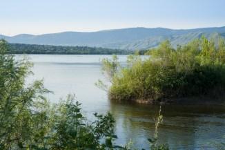 Wenatchee River 与 Columbia River 交汇处