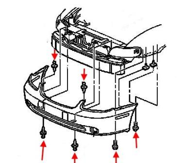 How to remove front and rear bumper Chevrolet Malibu (1999