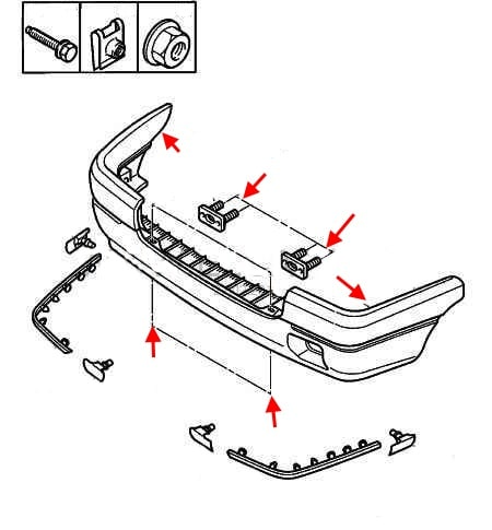 How to remove front and rear bumper Citroen ZX