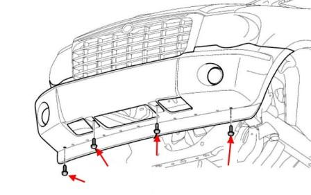 How to remove front and rear bumper Dodge Durango (2004-2009)