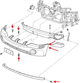 How to remove front and rear bumper GMC Envoy (2002-2009)