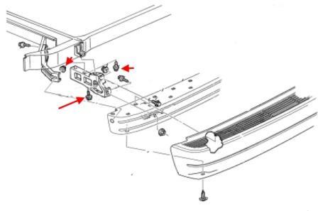 How to remove front and rear bumper GMC Safari (1995-2005)