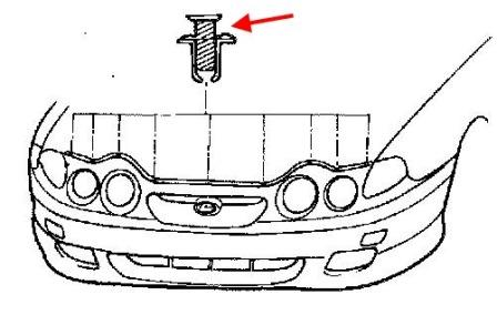 How to remove front and rear bumper Hyundai Coupe (Tiburon