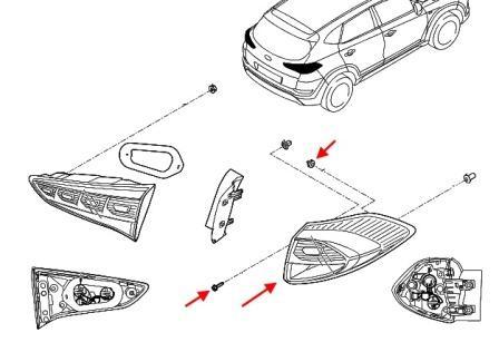 Как снять передний и задний бампер Hyundai Tucson TL