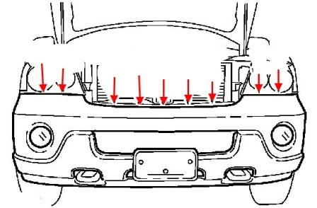 How to remove the front and rear bumper Lincoln Navigator