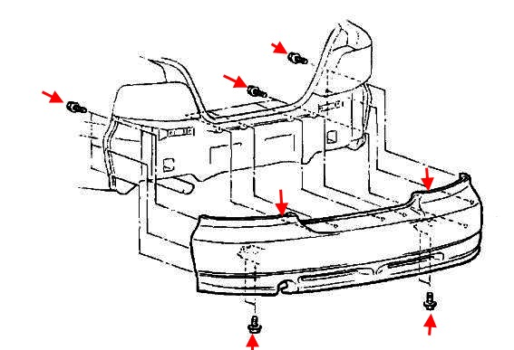 How to remove front and rear bumper Mitsubishi Galant 8