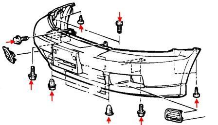 Entfernen der vorderen und hinteren Stoßstange Mitsubishi