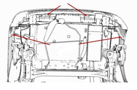 How to remove front and rear bumper Peugeot 1007