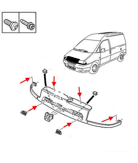 How to remove front and rear bumper Peugeot Expert