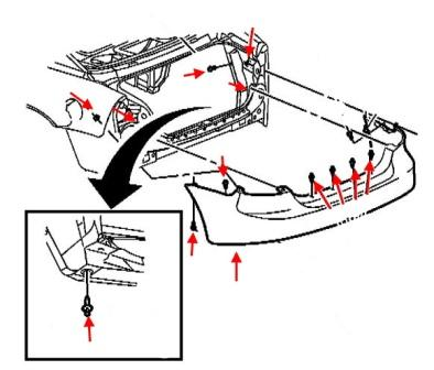 How to remove the front and rear bumper Pontiac Grand Prix