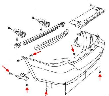 How to remove front and rear bumper Subaru Forester SG