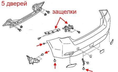 How to remove front and rear bumper Subaru Impreza (WRX