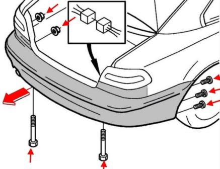 How to remove front and rear bumper Volvo C70 (1997-2005)