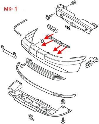 Как снять передний и задний бампер Ford Mondeo Mk1-Mk2