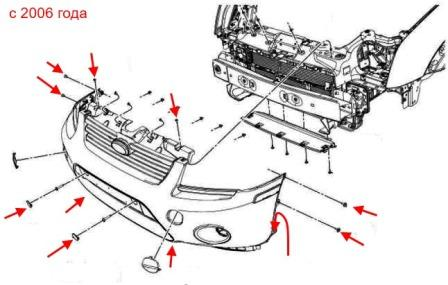 How to remove front and rear bumper of the Ford Tourneo