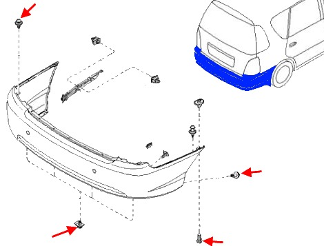 How to remove front and rear bumper for KIA Carens (2000-2002)