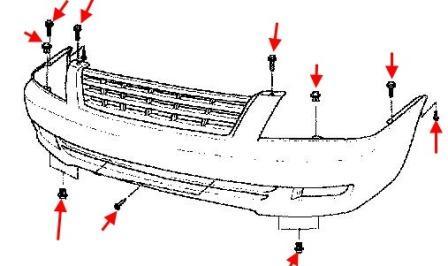 Как снять передний и задний бампер KIA Magentis (2000-2005)