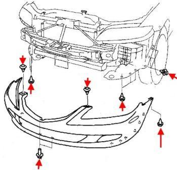 Как снять передний и задний бампер MAZDA 6 (2002-2008)