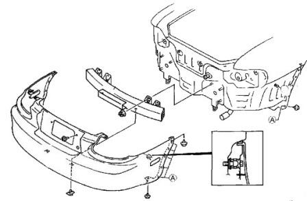 How to remove front and rear bumper MAZDA MX-5 NB (1997-2005)