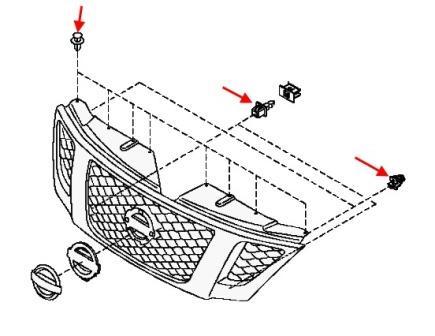 Как снять передний и задний бампер Nissan Patrol Y62
