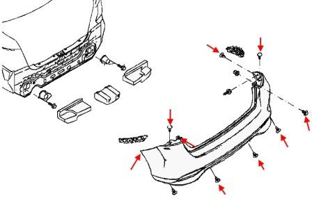How to remove front and rear bumper Nissan Tiida C13