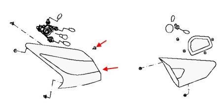 Как снять передний и задний бампер Nissan Tiida C13 (после
