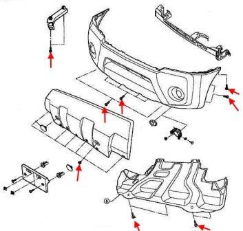 Как снять передний и задний бампер Nissan X-Terra
