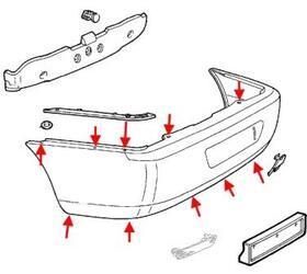 Как снять передний и задний бампер Alfa Romeo 166