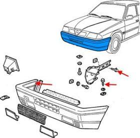 Как снять передний и задний бампер Alfa Romeo 33