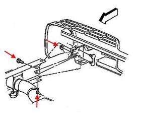 Как снять передний и задний бампер Chevrolet Avalanche