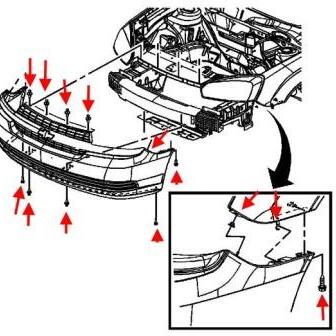 How to remove front and rear bumper Chevrolet Malibu (2004