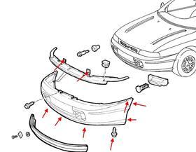 Как снять передний и задний бампер Fiat Brava/Bravo (1995