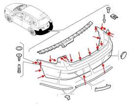 Как снять передний и задний бампер Fiat Croma (2005-2011)
