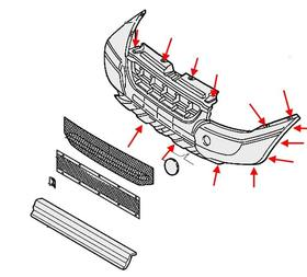 Как снять передний и задний бампер Fiat Doblo 1 (2000-2010)